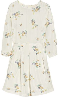 Floral print silk habotai dress Band Of Outsiders