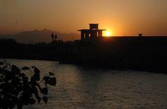 PESHAWAR: A beautiful view of the sun-set in Provincial Capital.