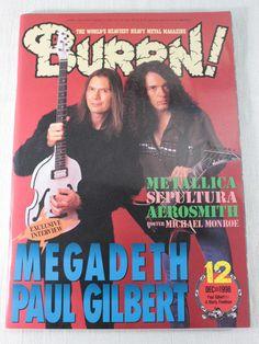 1998/12 BURRN! Japan Rock Magazine MEGADETH/PAUL GILBERT/ANGRA/ENUFF Z'NUFF
