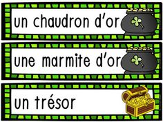 La Saint-Patrick - 28 mots de vocabulaire GRATUIT! French Saint Patrick, Activities, Vocabulary Words, Reading, San Patrick