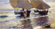The Athenaeum - The Arrival of the Boats (Joaquin Sorolla y Bastida - 1907)