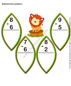 Finding Difference of Two One Digit Numbers Worksheet Addition And Subtraction Practice, Addition Worksheets, Number Worksheets, Math Addition, Worksheets For Kids, Hindi Worksheets, Subtraction Worksheets, Kindergarten Math Worksheets, Math Activities
