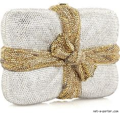 Judith Leiber Package Clutch Handbag ..