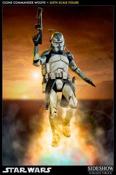Figura Star Wars: The Clone Wars. Comandante Clon Wolffe 30 cm. Sideshow Collectibles