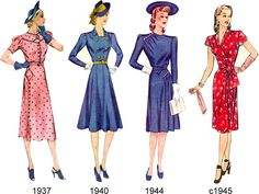 vintage 1944 style clothing for men | Tuppence Ha'penny: {Vintage for Beginners} 20th Century Fashion Eras