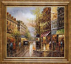 """Rainy Days in Paris"" Wall Paining http://www.amazon.com/gp/product/B00424IUOS/ref=as_li_ss_il?ie=UTF8=1789=390957=B00424IUOS=as2=thebooksatiwh-20"