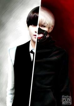 V of bts as kaneki I never thought I would need v as a character from one of my favorite animes Tokyo ghoul yes-makayla