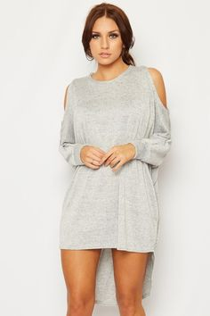 Kyong Lurex Cold Shoulder Dress Top | WearAll Find this gorgeous item at https://www.wearall.com/