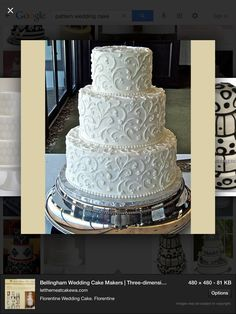 Simple But Elegant Wedding Cakes & Wedding Cake Makers & Three-dimensional sculpted cakes, wedding cakes & White Wedding Cakes, Elegant Wedding Cakes, Beautiful Wedding Cakes, Gorgeous Cakes, Wedding Cake Designs, Wedding Vintage, Wedding Ideas, Wedding Pins, Wedding Wishes