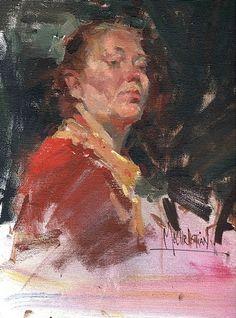 Chanteuse by Jennifer McChristian Oil ~ 10 x 8