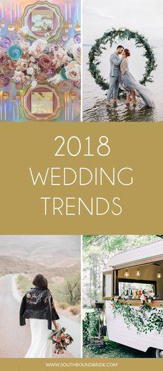 2018's Top Ten Wedding Trends