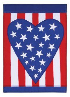 992801780 Patriotic Heart Garden Applique Flag by Toland Home Garden.  13.22. Toland  Flags are made