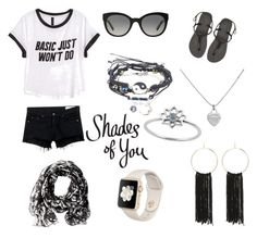 """""""Shades of You: Sunglass Hut Contest Entry"""" by sheenc0820 ❤ liked on Polyvore featuring rag & bone/JEAN, H&M, Havaianas, Burberry, Calvin Klein, Bebe, Tiffany & Co. and shadesofyou"""