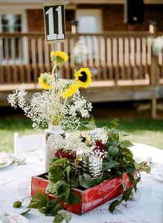 backyard wedding reception ideas  https://www.facebook.com/pages/Casey-Anderson-Wedding-Officiant/696124967113443..record for #, replace yellow flowers