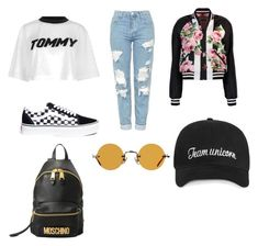 """Untitled #13"" by maria-daria-i on Polyvore featuring Tommy Hilfiger, Dolce&Gabbana, Vans, Moschino and Hakusan"