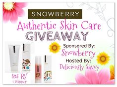 Snowberry Authentic Skin Care Giveaway (US) ends 3/3 enter at http://crtvlsy.ca/2k9MI22