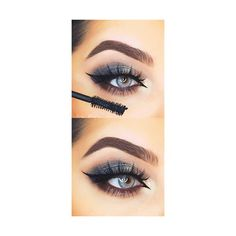 31 Eye Makeup Ideas for Blue Eyes ❤ liked on Polyvore featuring beauty products, makeup and eye makeup