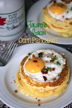 Jalapeno Bacon Corn Pancakes