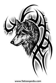 Tattoo Tribal Wolf 4 - Tattoospedia