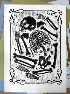 Rocker Skeleton by Meriç Karabulut, via Behance