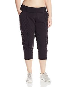 Lucy Womens Plus Size Get Going Capri Lucy Black 2X *** Details can be found by clicking on the image. (Note:Amazon affiliate link) #PantsCapris