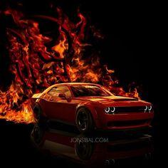 2018 Dodge Challenger SRT Demon CGI Looks Spot On