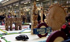 Tube Map made from Cake