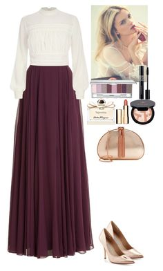 A fashion look from November 2015 featuring lace tops, ankle length skirt and charles david shoes. Browse and shop related looks. Classy Teen Fashion, Summer Fashion Outfits, Modest Fashion, Skirt Fashion, Fashion Dresses, Fashion Fashion, Modest Outfits, Classy Outfits, Beautiful Outfits