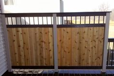 Trex and Cedar Privacy Wall on Trex Deck in Lake County built by Rock Solid Builders, Inc.