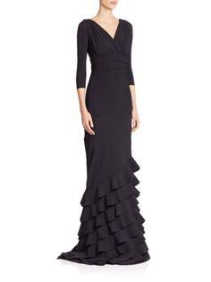 c878cb7d462 Chiara Boni La Petite Robe - V-Neck Ruffle Gown