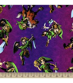 Nintendo® The Legend of Zelda™ Print Fabric | Personalized Fabric | Online Only Product