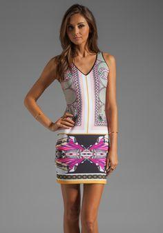 dd3f0bb652d43 CLOVER CANYON Candy Cars Neoprene Dress in Multi Art Deco Dress