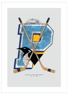 Pittsburgh Penguins-Inspired Hockey Art Poster from ManMade Art