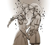 Legend of Zelda Blog — mellalyss: A zelink commission I did for la_lei...
