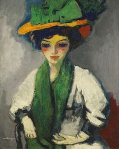 Kees van Dongen - Femme au chapeau vert (ca. 1910)