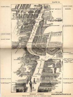 In 1880 Herbert Fry published London a handbook for Victorian visitors. The popular book ran to many editions. A major factor for its success being the inclusion of twenty illustrations providing: &ld Street Map Of London, London Map, Old London, Victorian London, Vintage London, Victorian Era, Vintage Maps, Antique Maps, Cityscape Drawing