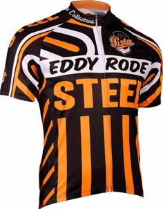 Eddy Rode Steel Cycling Jersey by Retro | #cycling #men
