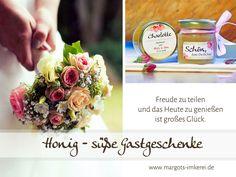Gastgeschenke - Rose in Honig - edle Gastgeschenke zur Hochzeit - ein Designerstück von Margots-Imkerei bei DaWanda