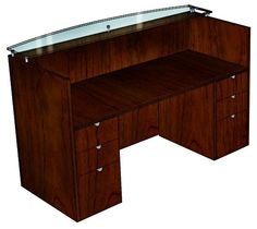 cherryman jade wood bowfront reception desk a must have for the office bridge reception counter office line