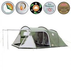 Coleman Lakeside Deluxe 6 Man Camping Tent in Sporting Goods, Camping & Hiking, Tents & Canopies | eBay