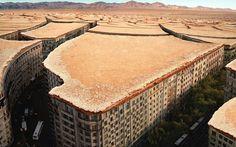Death Desertul Orasele Europei - buildings made to look like a desert
