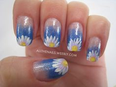 Blue with Daisies