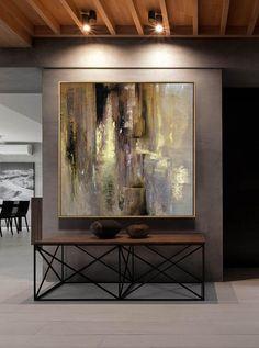 Grote Acryl schilderij schilderij goud schilderij Office | Etsy