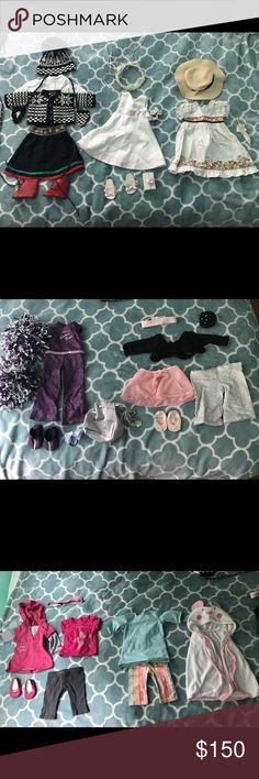 American girl doll clothing bundle 8 OUTFITS  picnic outfit (dress a8bbd56f48b0