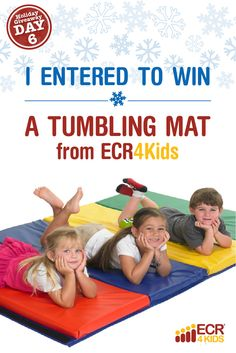 The Great Big Holiday Giveaway: DAY SIX!   Enter this 24-hour giveaway to win a Tumbling Mat!   Here's how: Repin this pin to be entered to win. One lucky winner will be randomly selected!   Contest runs 12/14 2:30 PM through 12/15 2:30 PM. Winner notified 12/15. Eligible to USA only. This contest is in no way sponsored, endorsed or administered by, or associated with, Pinterest.