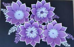 Pared de flores de papel personalizado, Custom papel flor fondo, Telón de fondo flor papel de boda, Telón de fondo de flores nupcial de la ducha, flores de papel