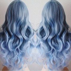 pastel+blue+ombre+for+long+hair
