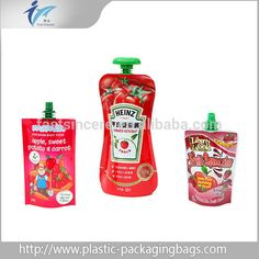 Water packaging bags/stand up pouch with spout and pull-puch top