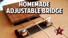 Simplify set up with a homemade adjustable bridge. – Cigar Box Nation