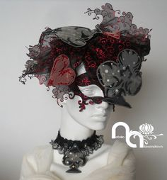 from my upcoming collection for the future Vodacom Durban July 2016 www.facebook.com/The-official-Vodacom-Durban-July.  There is still 80 days to create something unique for your individual order!  With love to all who love horses, horse racing and high-level event. Hat & mask & necklace designed and handmade from manually perforated fabric by Natalia Alexandrova.